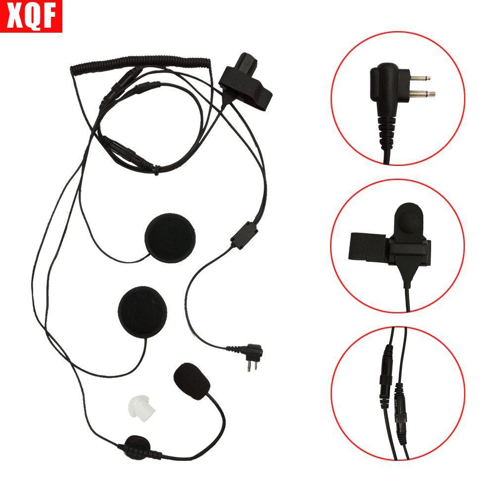 10PCS Open/Half Face Motorcycle Bike Helmet Earpiece Headset Mic Microphone For Two Way Radio Walkie Talkie 2pin CP100, CP125