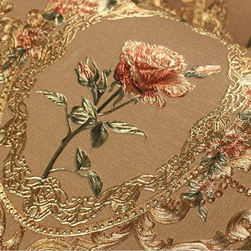 Nouveau luxe européen or floral papier peint de luxe Rose fleurs fond d'écran pour chambre 3D feuille d'or papier peint mural