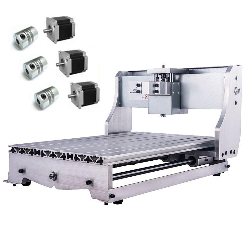 Mini CNC 3040 Rack Gravur Maschine Rahmen Kit 3 stücke NEMA 23 57 schrittmotor Halter 3 stücke Kupplung