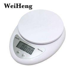 WEIHENG 5000 г/1 г 5кг портативные электронные весы кухонные весы баланс измерительные весы светодиодный электронные весы