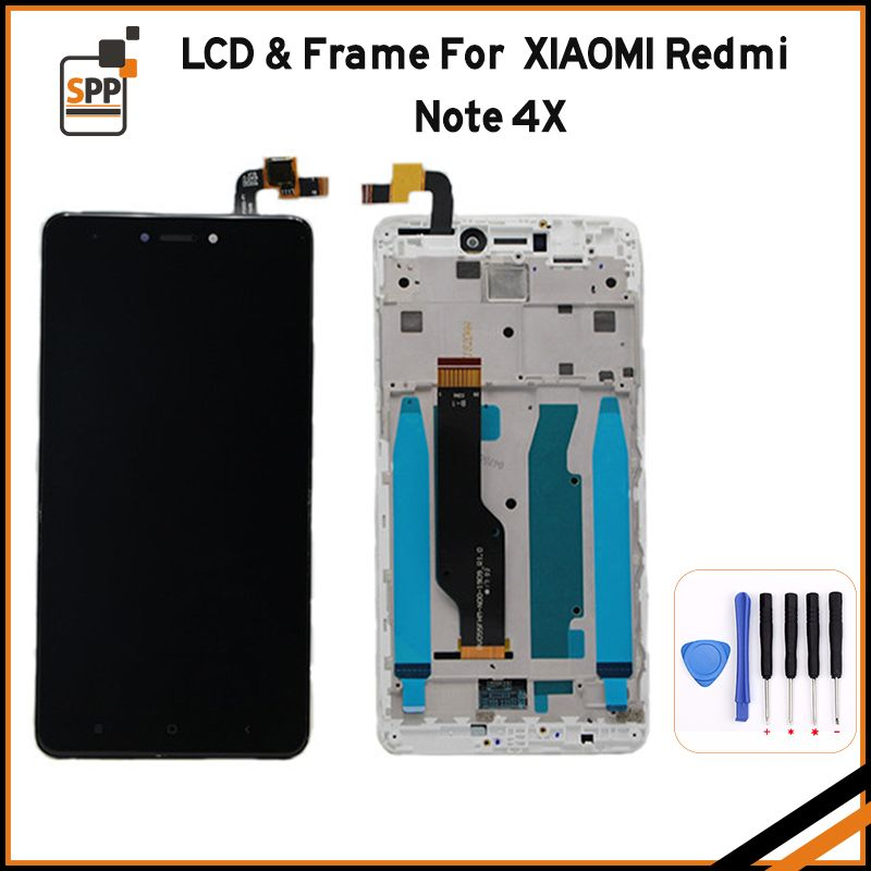 LCD Display with Frame+Digitizer Touch Screen Assembly For Xiaomi Redmi Note 4X 4 X Hongmi 5.5 inch Replacement Repair Parts