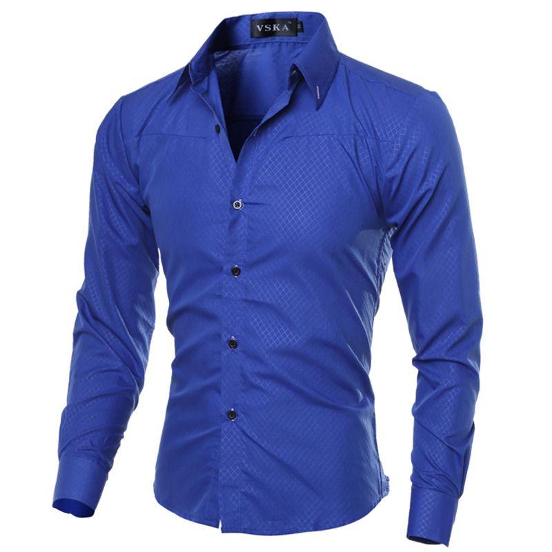 5XL grande taille marque-vêtements coton hommes vêtements solide doux hommes chemise à manches longues hommes chemises décontracté Slim Fit offre spéciale
