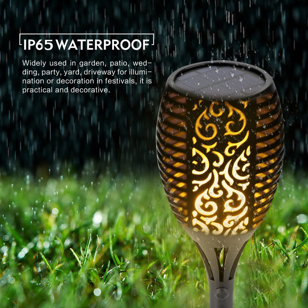 Solar Flame Flickering Garden LED light IP65 outdoor solar tiki torch light <font><b>Spotlights</b></font> Landscape Decoration led Lamp