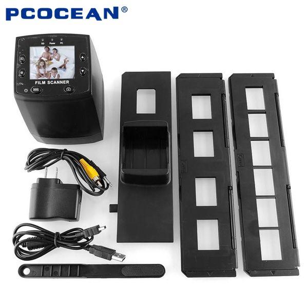10PCS 5MP 35mm Negative Film Slide Scanner 2.4'' LCD USB Negative Film to Digital Converter Photo Scan Scanner _DHL