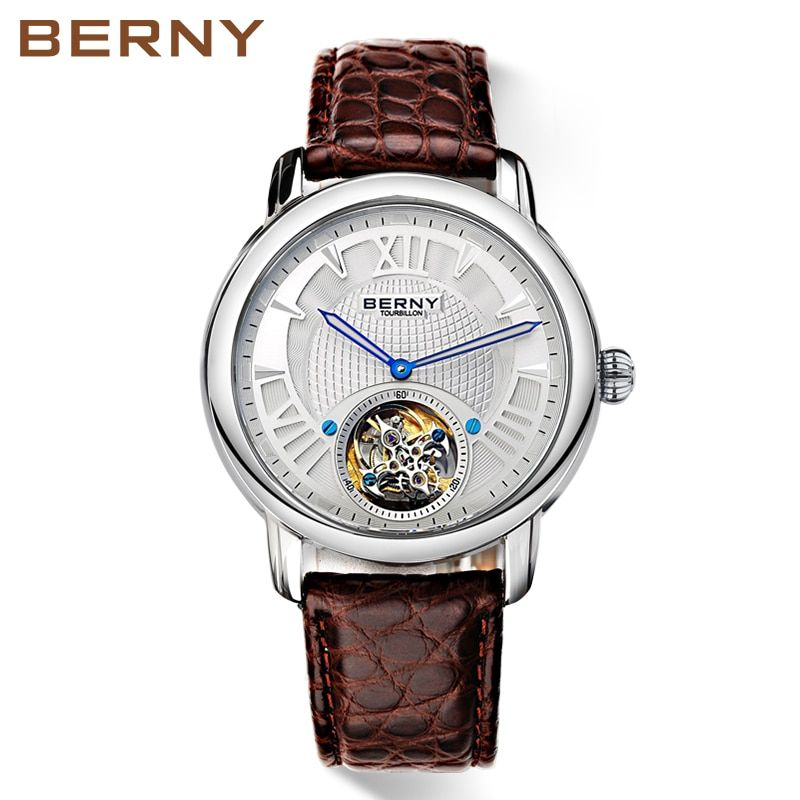 Berny Men Watch Quartz Mens Watches Fashion Top Luxury Brand Relogio Saat Montre Horloge Masculino Erkek Hombre JAPAN MOVEMENT