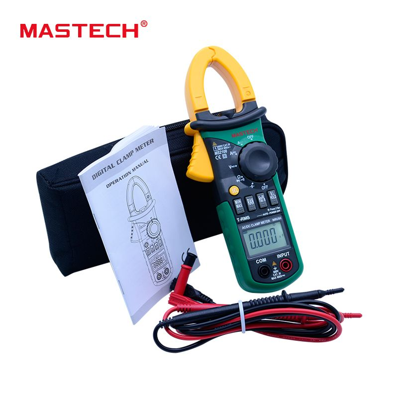 MASTECH MS2108 True RMS 6600 counts Digital AC DC Current 600A Clamp Meter Multimeter Capacitance Frequency Inrush Tester