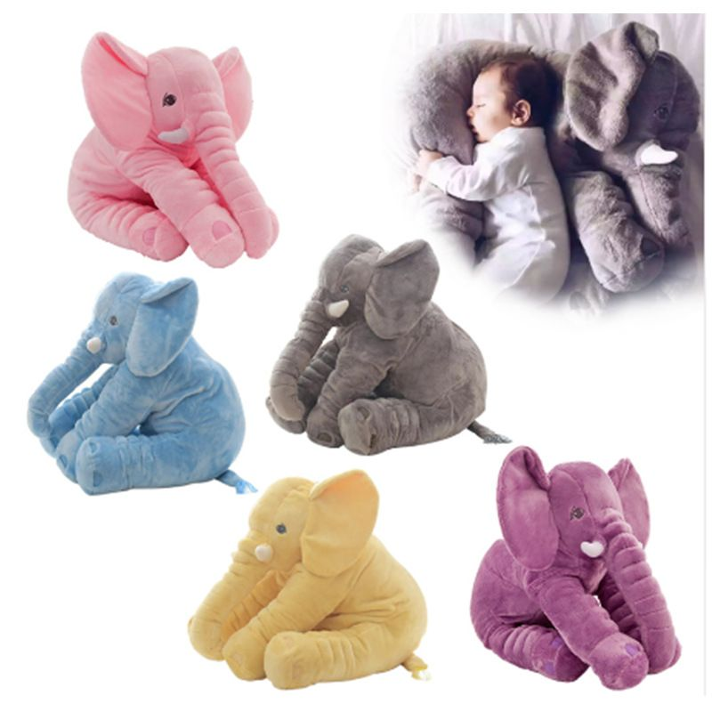 New 40 60cm Large Plush Elephant Doll Toy Kids Sleeping Stuffed Pillow Elephant Doll Baby Doll <font><b>Birthday</b></font> Gift For Kids