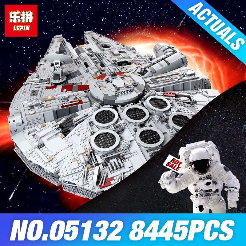 Lepin 05132 Star-Wars Millennium Falcon 75192 Ultimate Collector's Model Destroyer Building Blocks Bricks Toys DIY Assembla Gift