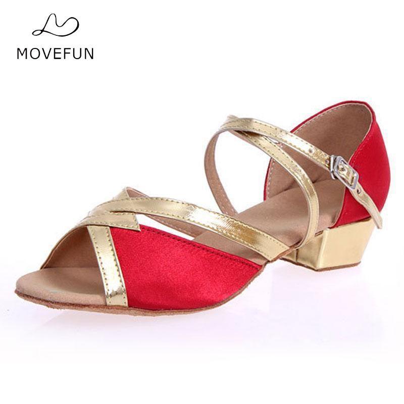 Kids Children Latin Dance Shoes Zapatos Girl's Ballroom Shoes Woman Salsa Zapatos de Baile Latino Mujer