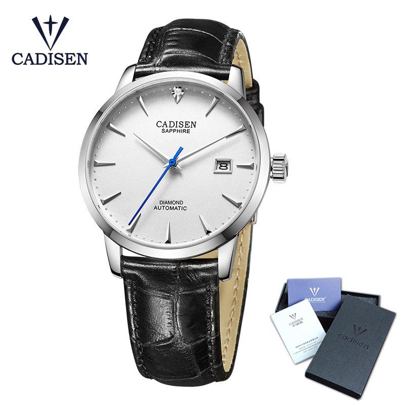 Cadisen Montre-Bracelet Hommes 2018 Top Marque De Luxe Célèbre Mâle Horloge Automatique Montre Or montre-Bracelet Relogio Masculino