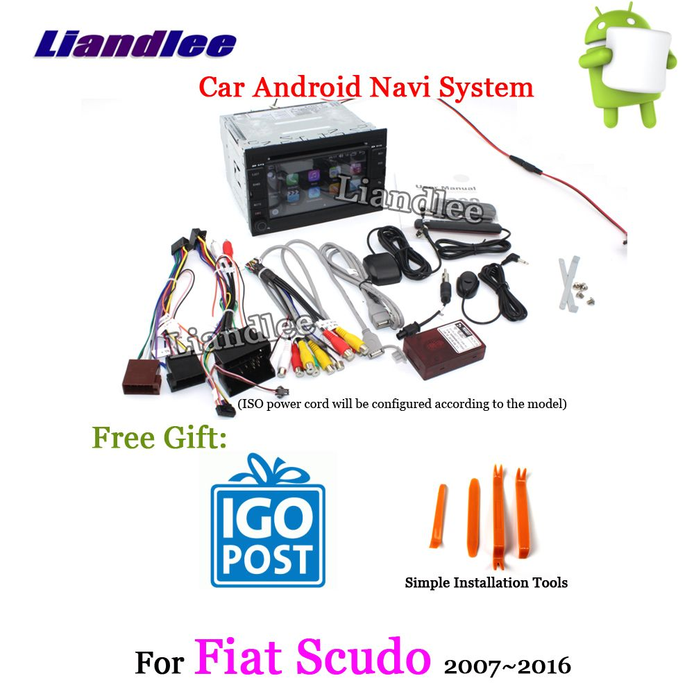Liandlee Android 8 UP Für Fiat Scudo 2007 ~ 2016 Stereo Auto Radio Carplay Kamera USB Wifi BT CD DVD GPS karte Navi Navigation System