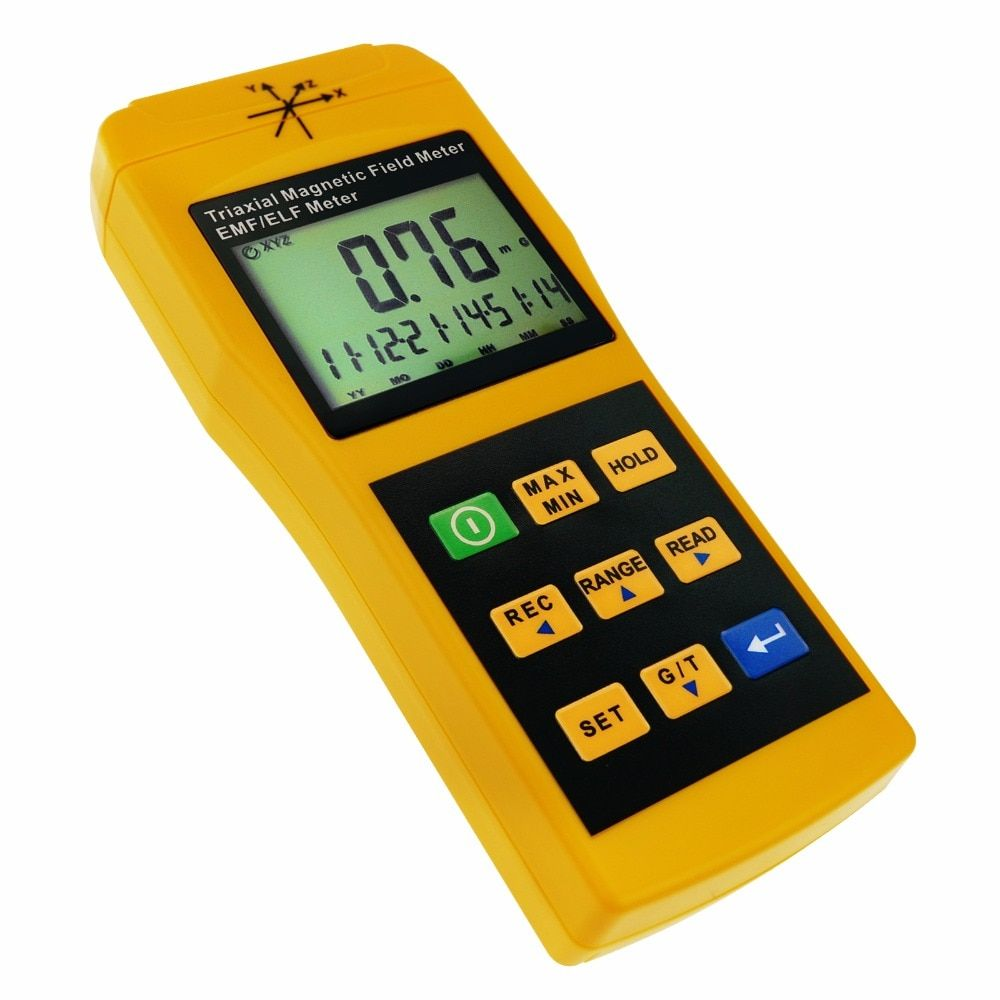 Tri-Axis Sensor EMF ELF Meter Frequency Magnetic Field Gauss 2000mG Taiwan Made Tester Gaussmeter