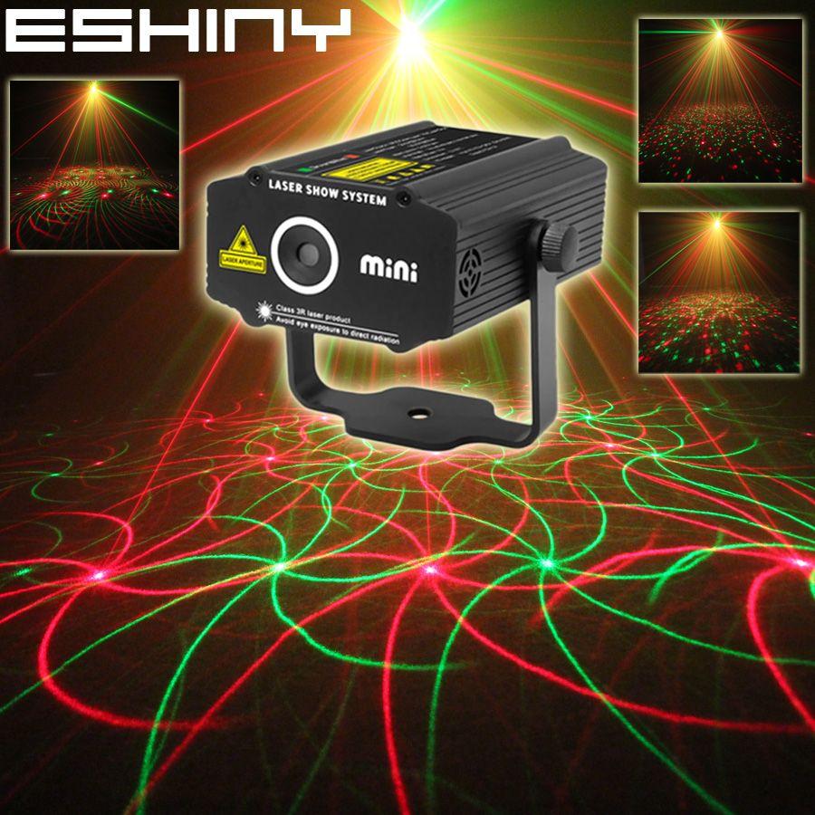 ESHINY Mini 4in1 4 modèles tourbillon R & G Laser projecteur éclairage scène Disco DJ Club KTV noël Bar famille fête lumière spectacle P17