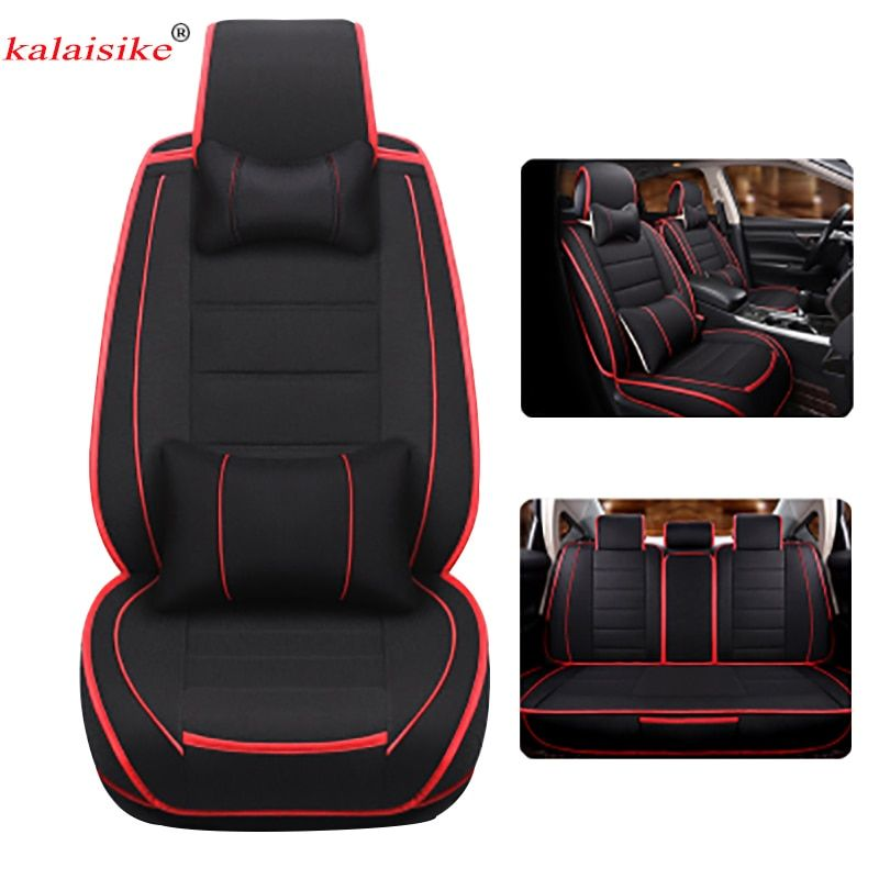 Kalaisike Linen Universal Car Seat Covers for Toyota all models rav4 wish land cruiser vitz mark auris prius camry corolla crown