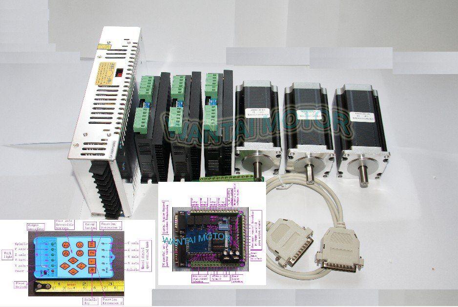 3 Achsen wantai Nema 23 Schrittmotor unzen-in CNC & Treiber 4.2A spitzenstrom, 128 Microstep (Super Lieferant, hohe qualität)