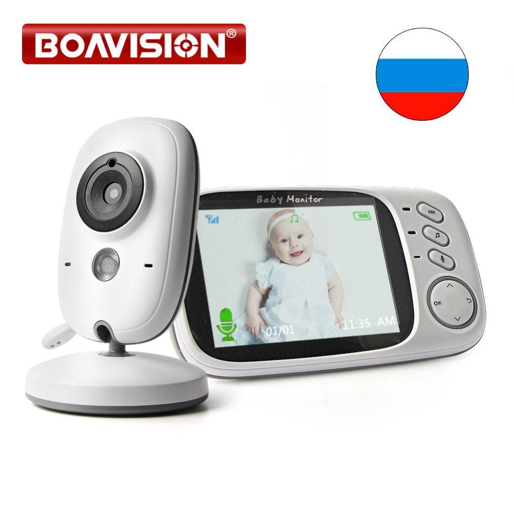 3.2 Pouces LCD babyphone vidéo 2.4G Sans Fil 2 Façon Audio Bebe Cam vision nocturne de Surveillance caméra de sécurité Baby-Sitter VB603