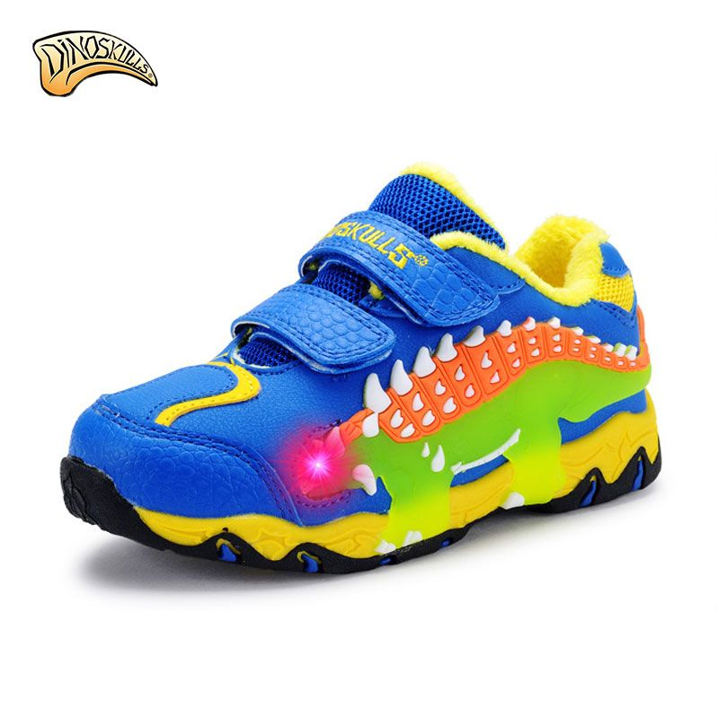 Dinoskulls Children Shoes 2017 Boys Sneakers Sport Shoes Child Rubber Leisure Trainers Casual Kids Sneakers 3D Dinosaur Shoes
