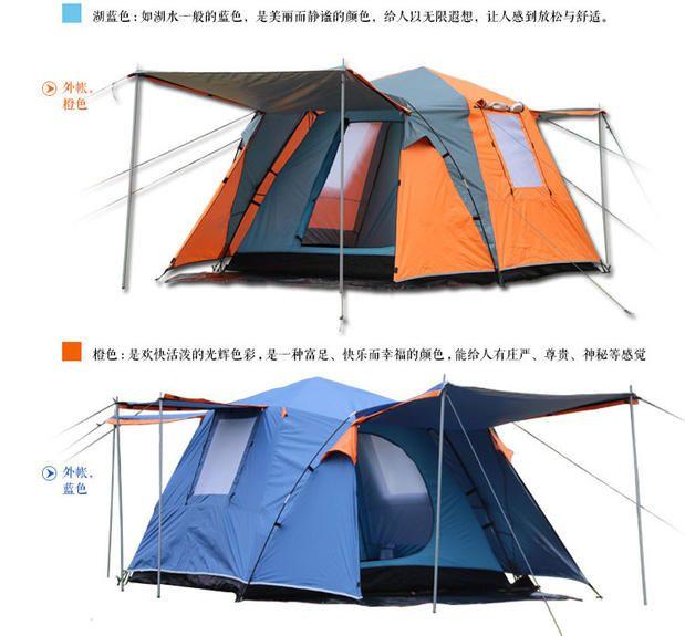 Kamel 2 türen 3-4 personen voll automatische zelt automatische camping familie zelt in gute qualität familie reise zelt