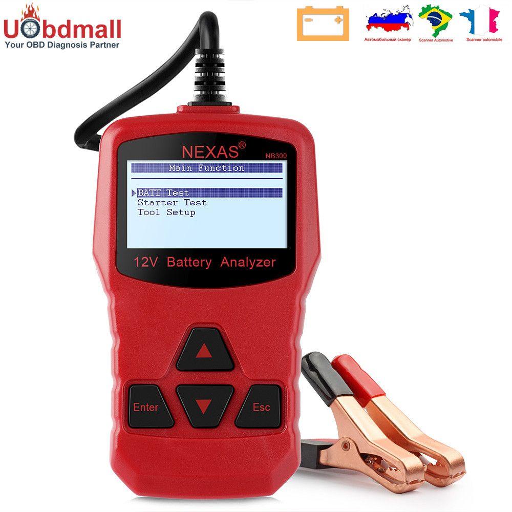 Original Nexas NB300 Car Battery Cranking Charging Tester 12V 220AH Multi-Language Batery Analysis BAD Cell Test Car Tools