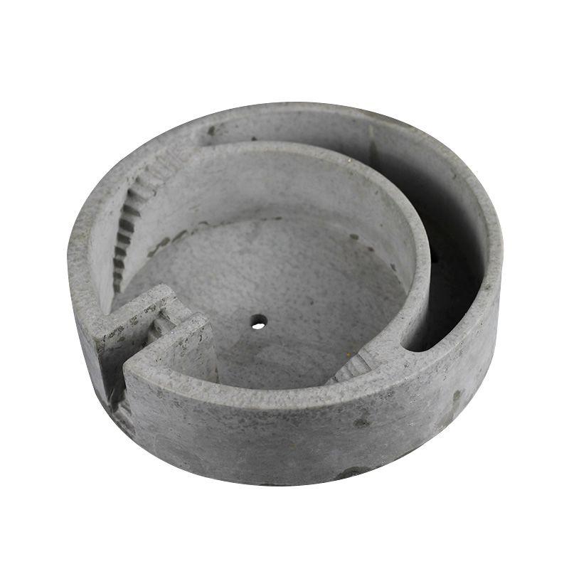 New Silicone Mold for Concrete Flowerpot Mould Circular Building Shape Cement Planter Bonsai Decoration Tools