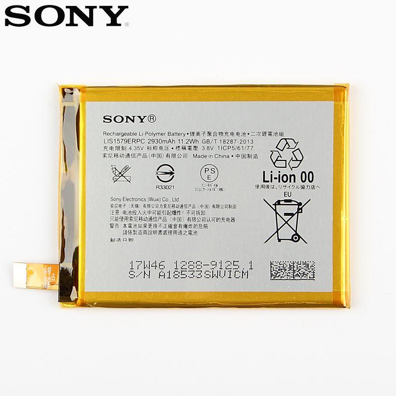 Original Replacement Sony Battery For SONY Xperia C5 Ultra E5553 Z3+ Z4 LIS1579ERPC Genuine Phone Battery 2930mAh