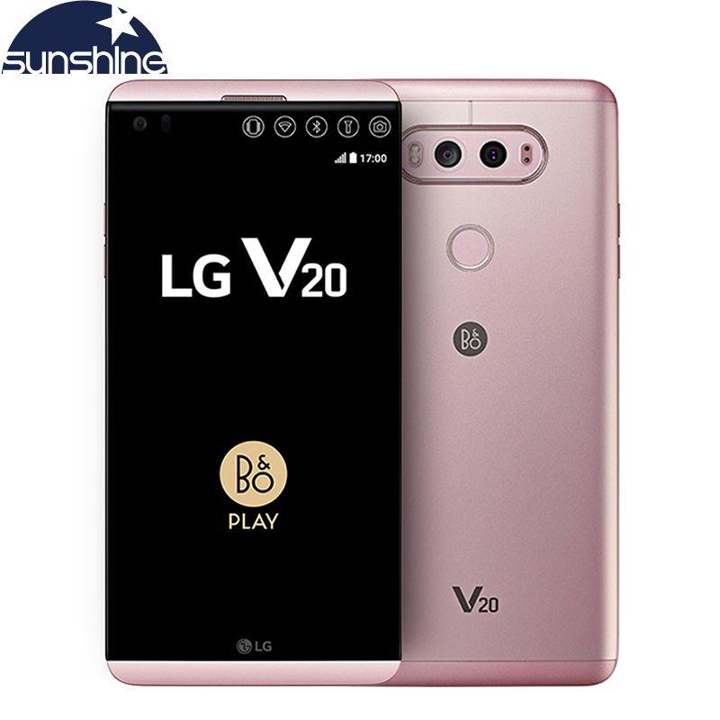 Original LG V20 4G LTE Mobile phone Quad core 5.7'' 16.0MP 4G RAM 64G ROM Snapdragon 820 Fingerprint Smartphone