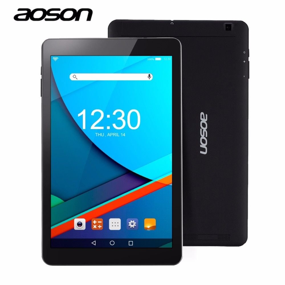 support GPS AOSON R101 10.1 inch android Tablet 2GB RAM 16GB ROM Android 6.0 wifi netbook Quad Core IPS 1280x800 Dual Camera 10