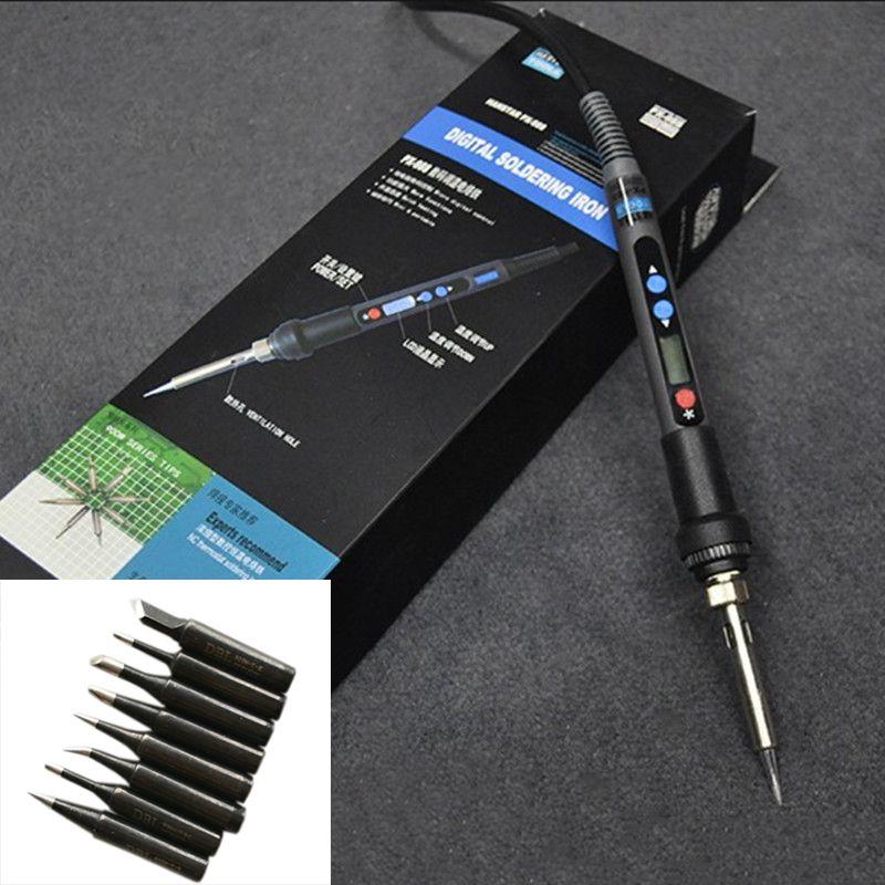Digital LCD Adjustable Temperature Electric Soldering Iron 90W 220V Fer a Souder Soldering Iron Solder+Tip8pcs
