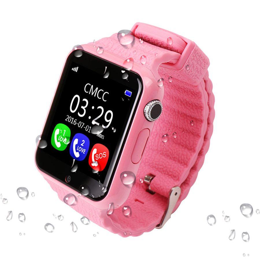 Kinder GPS Uhr Tracker V7K 1,54 ''Mit Kamera Kinder SOS Notfall Sicherheit Anti Verloren Für Android Smart Uhr PK q90 Q100