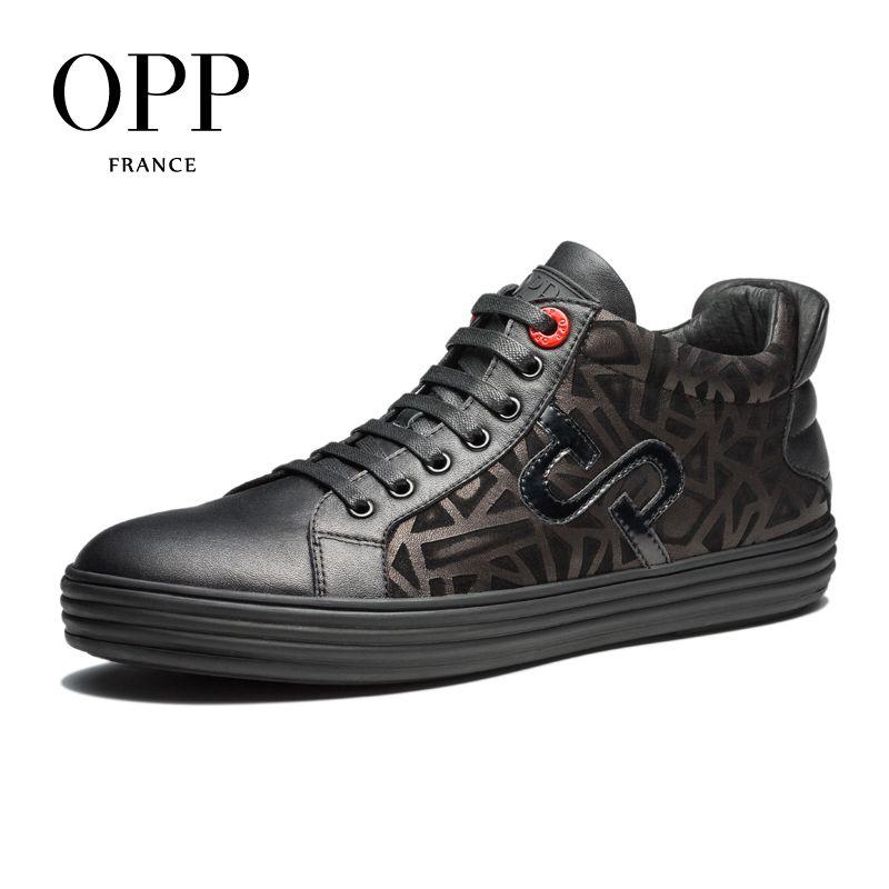 OPP 2017 Nuevos Hombres Zapatos de los Holgazanes De Los Hombres de Cuero de Vaca Pisos zapatos de Otoño y el Invierno Zapatos Casuales Individuales Mocasines calzado para Hombres