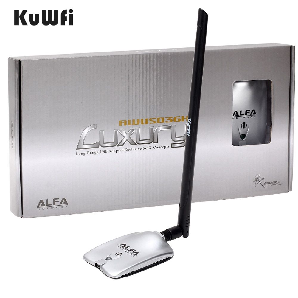 AWUS036NH LUXURY ALFA Adapter Network Ralink3070L 2.4Ghz High Power Wireless USB Wifi Adapter 2*8dBi <font><b>Antenna</b></font> With Long Range