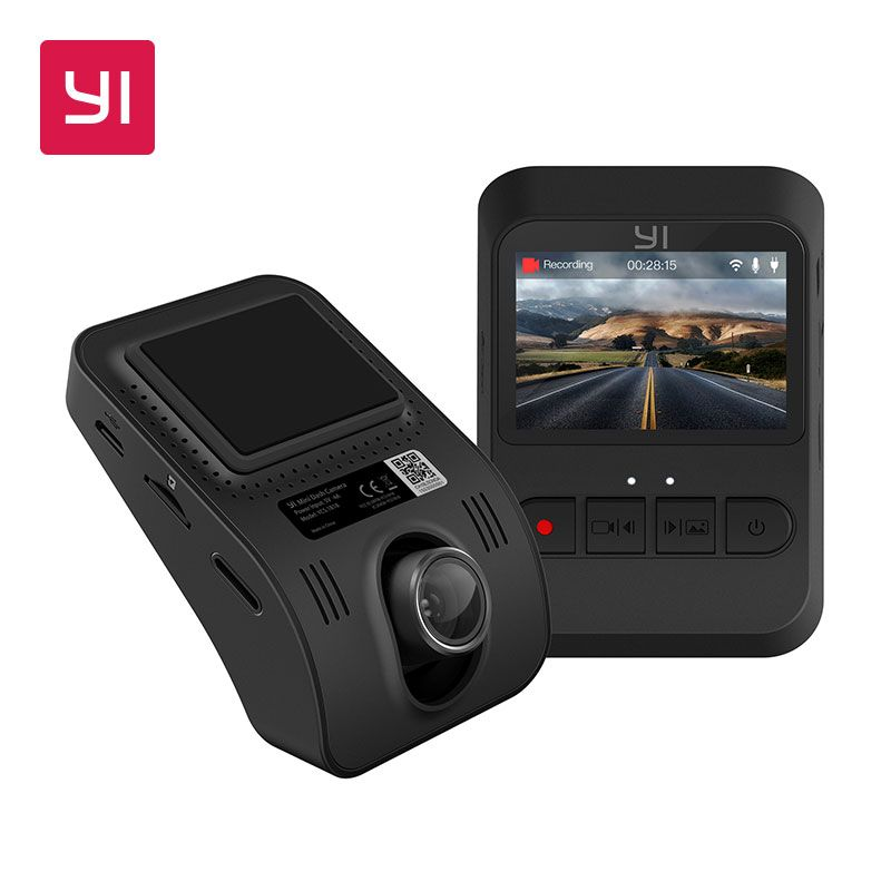 YI Mini Dash Camera 1080p FHD Dashboard Video Recorder Wi-Fi Car Camera with 140 Degree Wide-angle Lens Night Vision G-Sensor