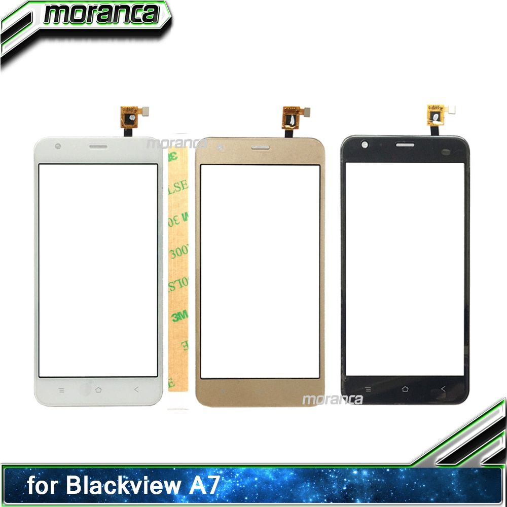 5.0'' Mobile Phone Touch for Blackview A7 Touch Screen Digitizer Sensor Touchscreen Panel Front Glass Lens +3M Sticker