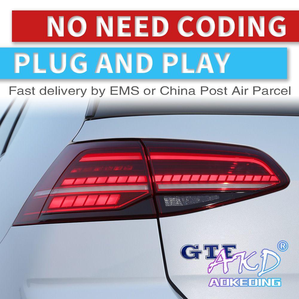 AKD tuning autos rückleuchten Für VW Golf 7 Golf7 MK7 Rückleuchten LED DRL tagfahrlicht Nebel lichter engel augen hinten parkplatz lichter