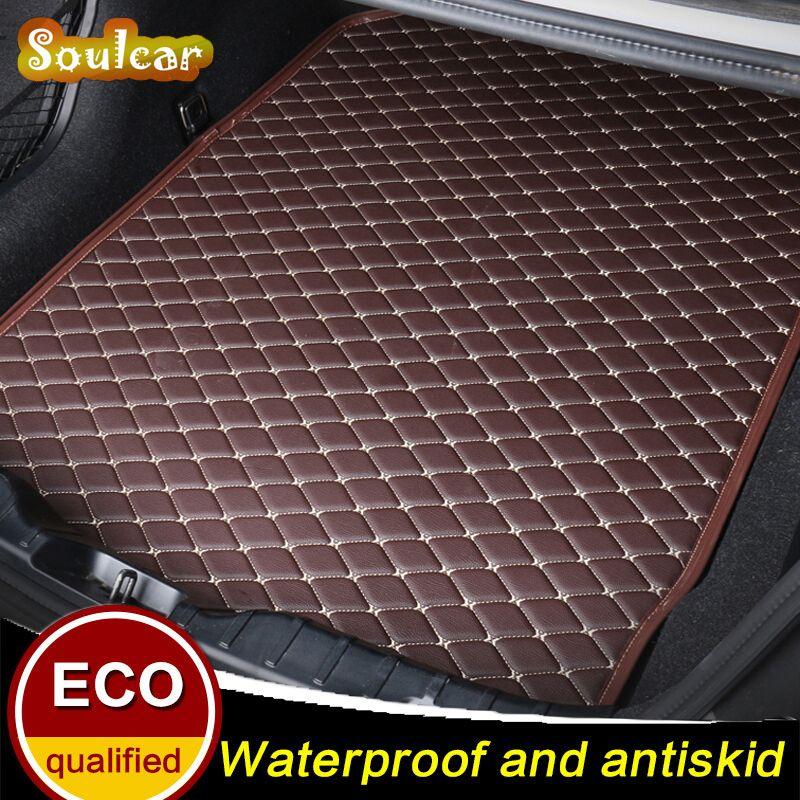 Leather Rear Trunk Cover Cargo Liner Trunk Tray Floor Mats for BMW 3 Serive E93 E92 E91 E90 E4 F30 F34 F35 2005-2017