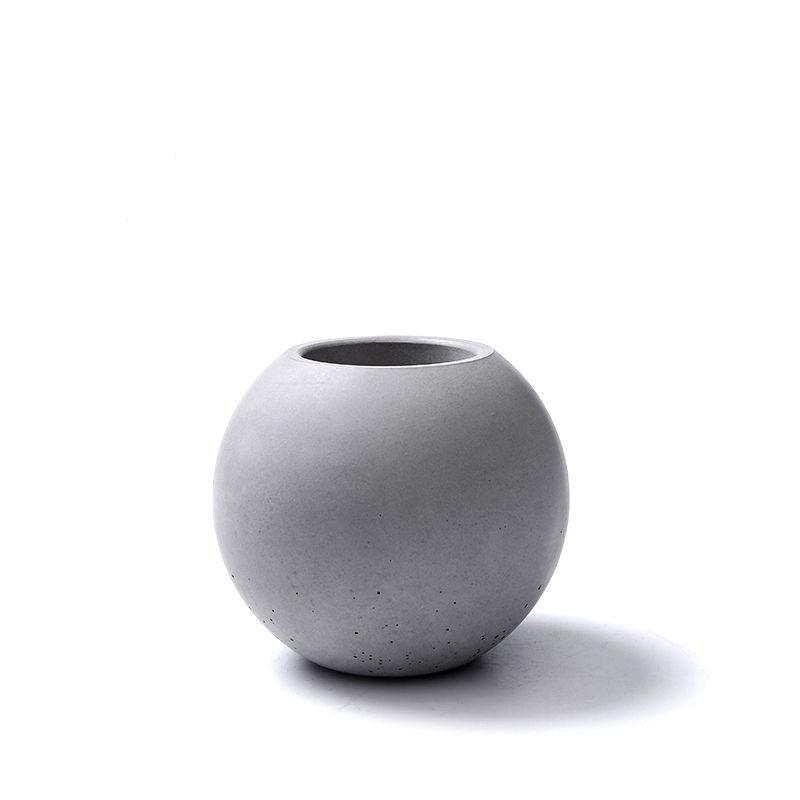 Gel de silice silicone moule béton vase ciment pots décoration maison boule forme béton Pot moules béton moule ciment 3d vase