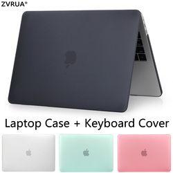 ZVRUA Venta caliente portátil para Apple macbook Air Pro Retina 11 12 13 15 para Mac libro 13,3 pulgadas con Touch Bar + cubierta del teclado