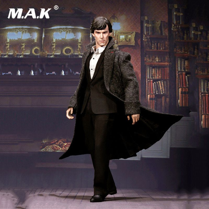 For Collection 1/6 British Detective Sherlock Holmes Benedict Cumberbatch Action Figure toys for Collectors