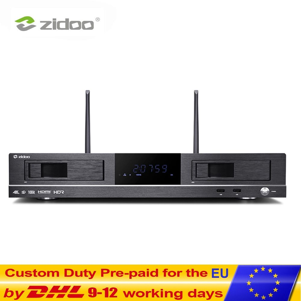 ZIDOO X20 Media Player 2 GB DDR4 16 GB eMMC Set Top Box 4 K HDR Android TV BOX Dual HDMI Dual Festplatte Dual Band Wifi Smart tvbox