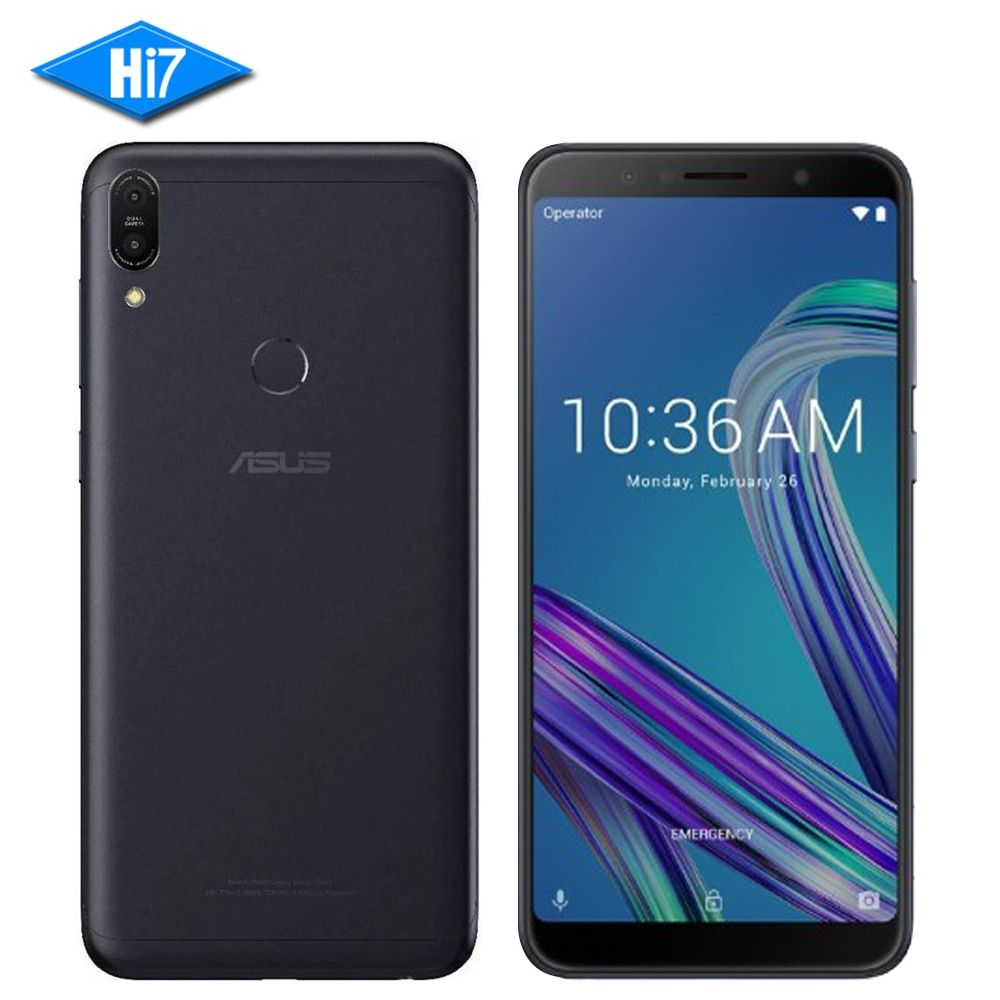 ASUS ZenFone Max Pro M1 ZB602KL 6GB RAM 64GB ROM 6inch 18:9 FHD Snapdragon 636 Android 8.1 Dual 16MP 4G LTE Face ID Samrtphone