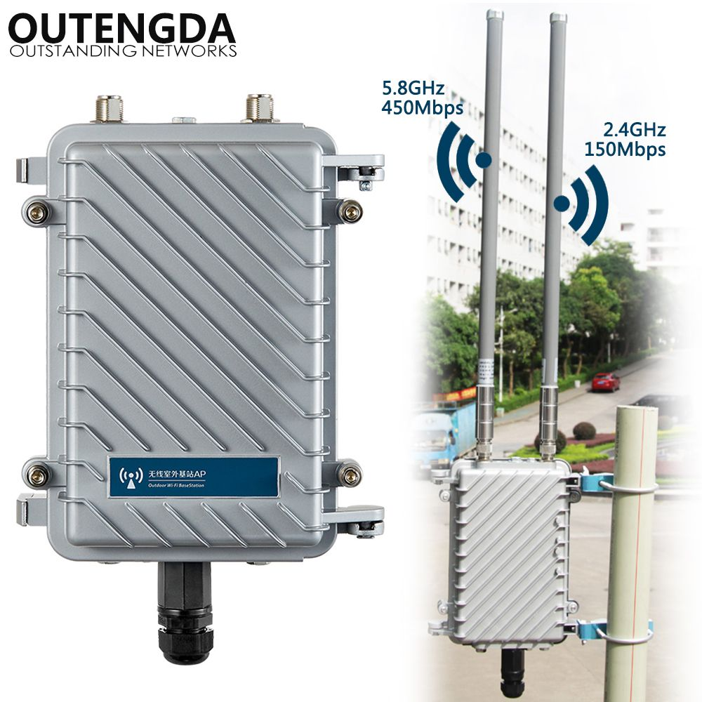 600 Mbps Dual Band 2,4g & 5,8g Outdoor CPE AP Router WiFi Signal Hotspot Verstärker Repeater Lange Palette wireless PoE Access Point