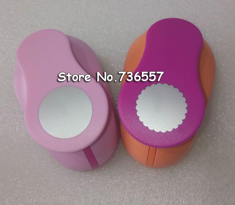 2 stücke (2,5 cm) runde, welle kreis form handwerk punch set Schlags-fertigkeit Scrapbooking schule Papier Puncher eva loch schlag kostenloser versand