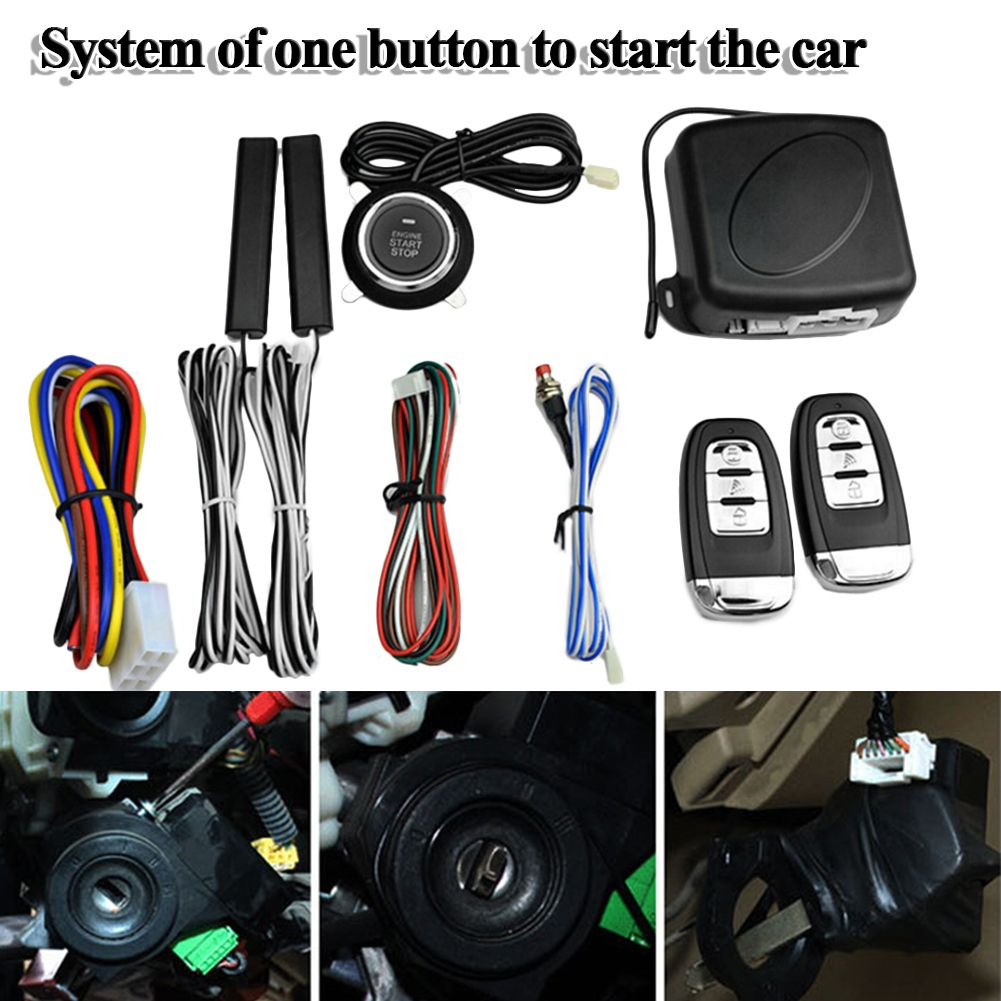 9Pcs Car SUV Keyless Entry Engine Start Alarm System Push Button Remote Starter Stop Auto Immobilizer Systems 2017
