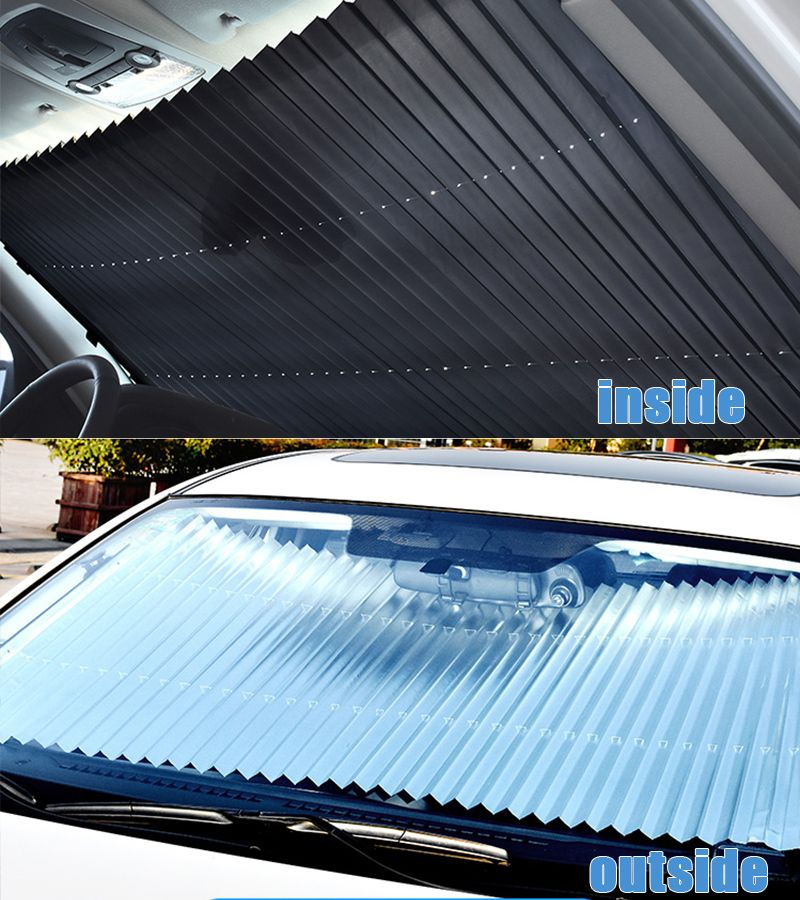 46CM/65CM/70CM/80CM Upgarde Retractbale SUV Truck Car Front Windshield Sunshade Rear Window Sun Visor UV Protection Curtain