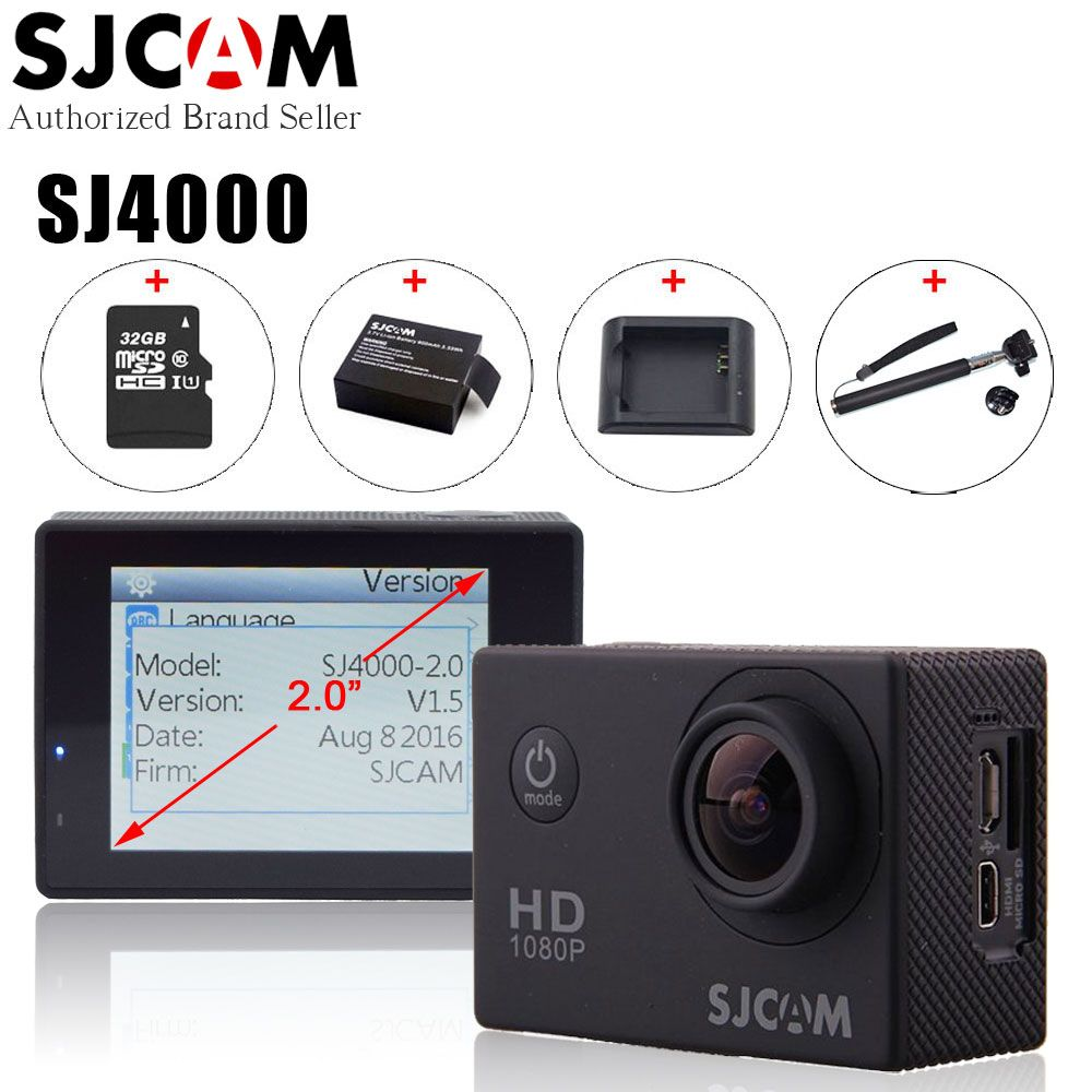 Original SJCAM SJ4000 Action Video Camera Waterproof 30m Diving SJ CAM 4000 Basic Sport DV 1080P Full HD Mini Helmet Camcorder