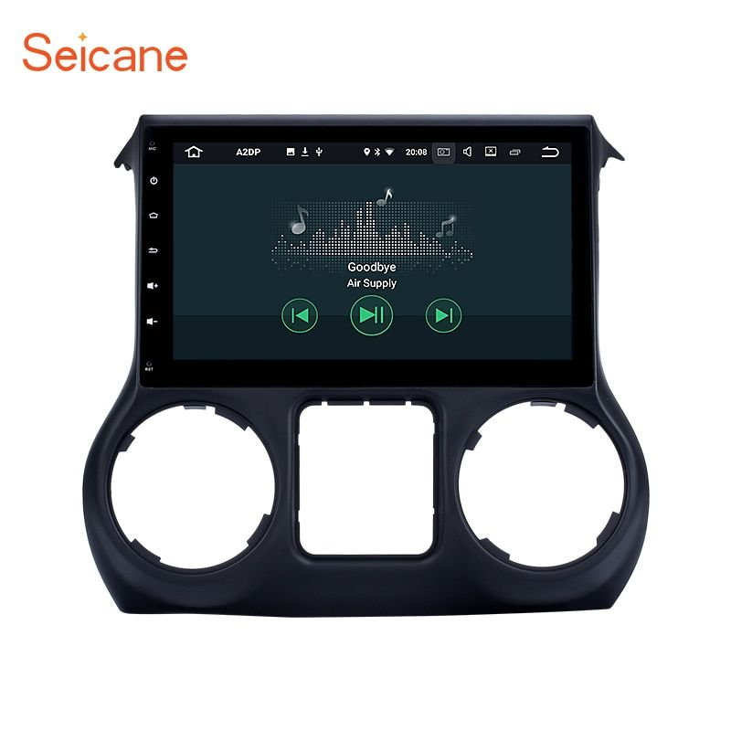 Seicane 10.1 Inch Android 7.1 car Radio GPS Navigation system for 2011-2016 JEEP Wrangler with Bluetooth Support Mirror Link