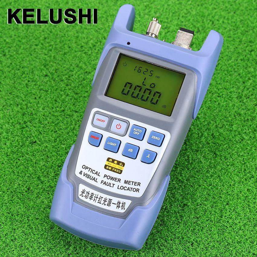KELUSHI Tout-EN-UN FTTH Fiber optique power meter-70 à + 10dBm et 1 mw 5 km Fiber Optique Cable Tester Visual Fault Locator