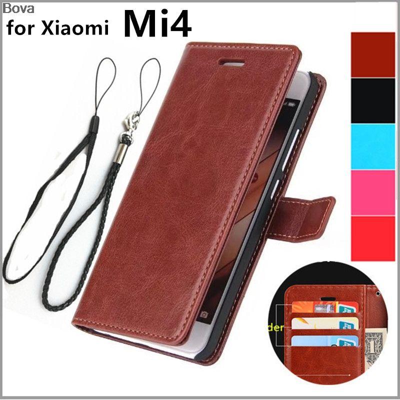 Xiaomi 4 Mi4 couverture de porte-cartes pour Xiaomi Mi4 M4 Pu en cuir téléphone cas ultra mince portefeuille flip couverture