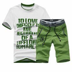 2019 Baru T-shirt Set Kasual Tshirt Pria Musim Panas Hot Sale Baju Olahraga Hip Hop Merek Pakaian T Shirt Set Pria 2 potongan M-4XL