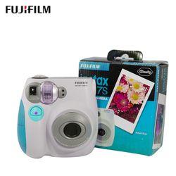 original Fujifilm Instax Mini 7s Instant Film Photo Camera Blue and Pink Free Shipping